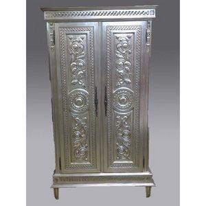 DECO PRIVE - armoire en bois argente catalane - Armoire À Portes Battantes