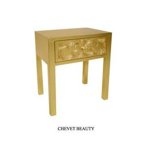 DECO PRIVE - chevet baroque en bois dore modele beauty - Table De Chevet