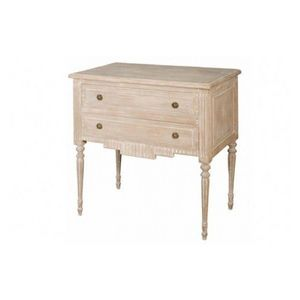 DECO PRIVE - commode en bois ceruse modele bliss 2 tiroirs - Commode
