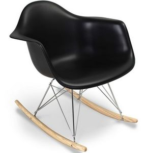 WHITE LABEL - rocking chair inspiration eames - Rocking Chair