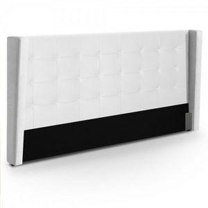 WHITE LABEL - tête de lit calzino - blanc - Tête De Lit