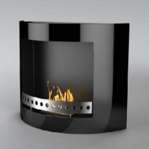 WHITE LABEL - chemine thanol killy noir - Cheminée Sans Conduit D'évacuation