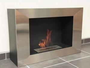 NEOFLAM - cheminee bio ethanol silver screen - Cheminée Sans Conduit D'évacuation