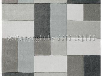 Arte Espina - tapis de salon reflective 4 gris 170x240 en acryli - Tapis Contemporain