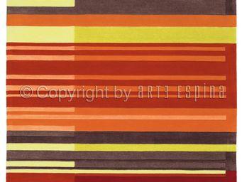 Arte Espina - tapis colour codes rouge 200x300 en acrylique - Tapis Contemporain