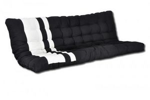 Futon Design - matelas-futon blanc et noir zino dos eveloppant 13 - Matelas Banquette Bz