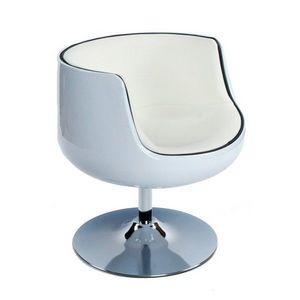 KOKOON DESIGN - fauteuil de salon design en similicuir m - Fauteuil Rotatif
