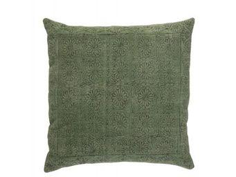 BLANC D'IVOIRE - noe vert - Coussin Carré
