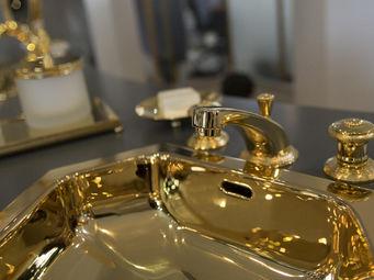 Cristal Et Bronze -  - Mélangeur Lavabo 3 Trous