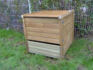 ADSEA NIEVRE - composteur 650 litres en pin traité 95x87x97cm - Bac À Compost