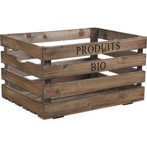 Aubry-Gaspard - caisse en bois produits bio - Caisse De Rangement