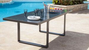 PROLOISIRS - table brecia 220cm - Table De Jardin