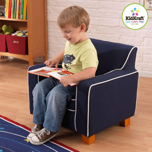 KidKraft - fauteuil laguna bleu en tissu 56x46x50cm - Fauteuil Enfant