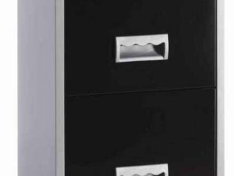 jardindeco - colonne de rangement en métal alu et noir 4 tiroir - Classeur À Tiroirs