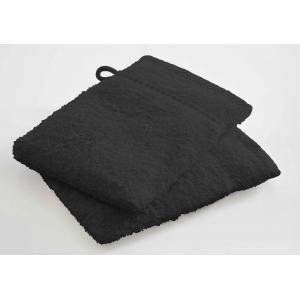 TODAY - lot de 2 gants de toilette - couleur - noir - Serviette De Toilette