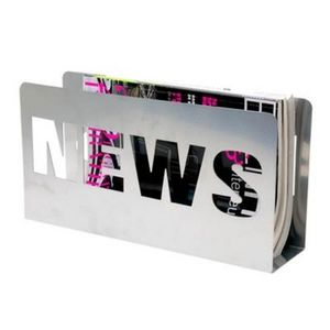 Present Time - porte-revues news - couleur - argenté - Porte Revues