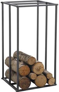 Aubry-Gaspard - rack à bûches vertical en métal gris - Porte Buches