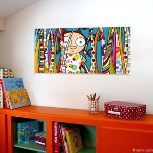 SERIE GOLO - toile imprimée cache-cache 78x38cm - Tableau Décoratif Enfant