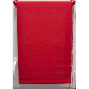 Luance - store enrouleur tamisant 45x90 cm rouge - Store Occultant