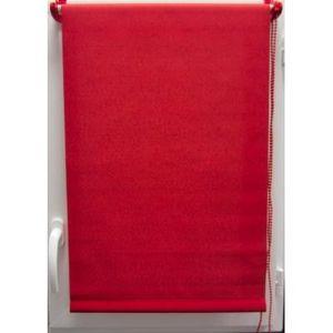Luance - store enrouleur tamisant 45x90 cm rouge - Store Occultant