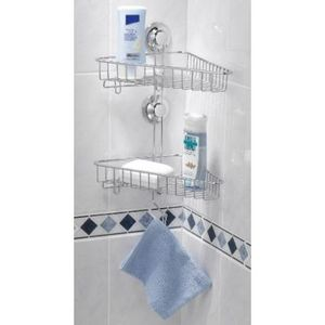 EVERLOC - double tablette d'angle - Serviteur De Douche