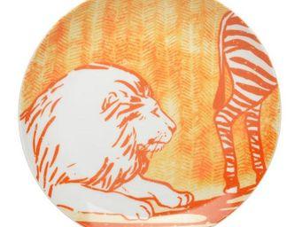 La Chaise Longue - coffret de 6 assiettes a dessert savannah - Assiette Plate