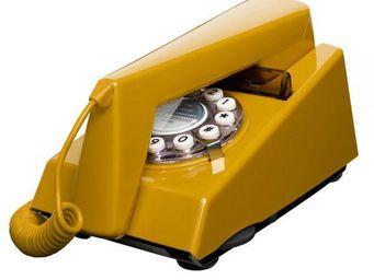 WHITE LABEL - téléphone trim doré - Téléphone Décoratif