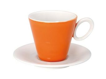La Chaise Longue - ensemble 4 tasses et sous-tasses lilystar orange - Tasse À Café