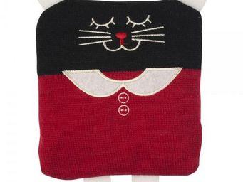La Chaise Longue - bouillotte tricot chat girl - Bouillotte
