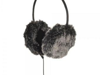 La Chaise Longue - casque protège-oreilles fausse fourrure gris - Casque