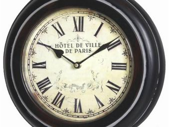 L'HERITIER DU TEMPS - grande horloge murale en fer �62cm - Horloge Murale