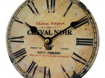 L'HERITIER DU TEMPS - petite pendule style industriel 16,5cm - Horloge Murale