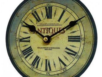L'HERITIER DU TEMPS - mini pendule ancienne en bois ø16.5cm - Horloge Murale