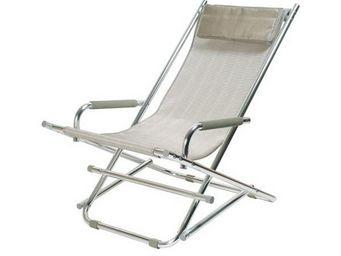 La Chaise Longue - chaise de jardin argent - Transat