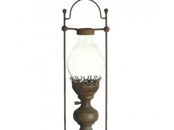 L'HERITIER DU TEMPS - lanterne à bougie à poser fer - Lanterne D'extérieur