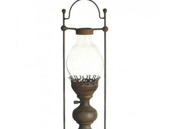 L'HERITIER DU TEMPS - lanterne � bougie � poser fer - Lanterne D'ext�rieur