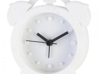 La Chaise Longue - réveil rétro silicone blanc - Réveil Matin