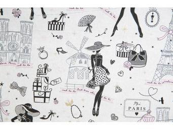 Le Quartier des Tissus - tissu imprime la petite robe de paris - Tissu Imprim�