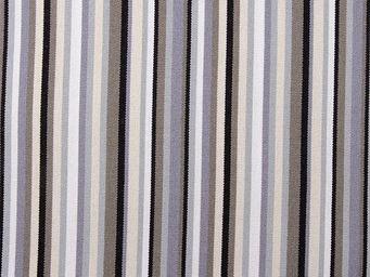 Le Quartier des Tissus - toile de transat rayee multi ficelle taupe ecru - Tissu D'extérieur