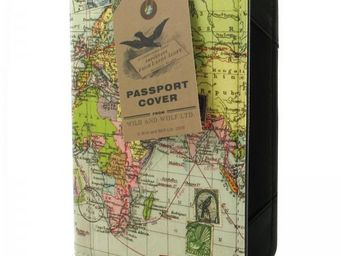 WHITE LABEL - etui à passeport carte du monde - Portefeuille