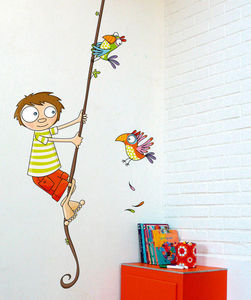 SERIE GOLO - tome sur une liane - Sticker D�cor Adh�sif Enfant