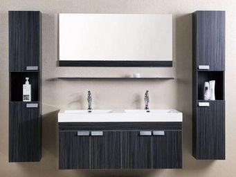 UsiRama.com - ensemble meubles salle de bain cosmos 1.2m - Meuble Double Vasque