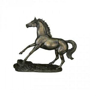 Demeure et Jardin - cheval au galop en polyresine - Sculpture Animalière