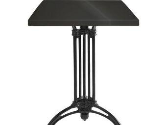 Ardamez - table de repas émaillée noir / fonte - Table De Repas Carrée