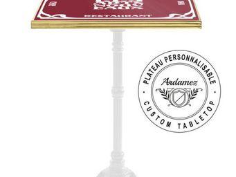 Ardamez - plateau de table de bistrot �maill� personnalis� - Plateau De Table Bistrot