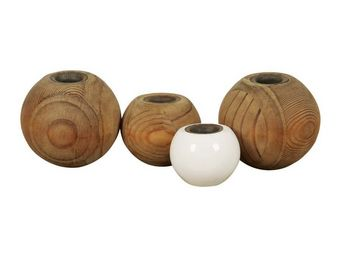 Interior's - bougeoir 4 boules en bois atelier - Bougeoir