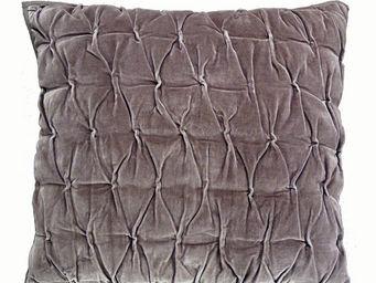 Interior's - housse de coussin marron plissé - Housse De Coussin