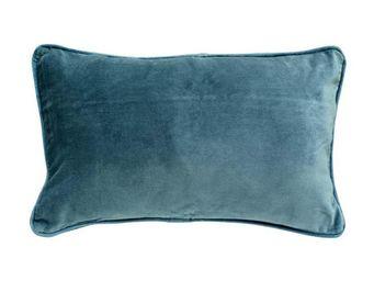 Interior's - housse de coussin velours bleu 30x50 - Housse De Coussin