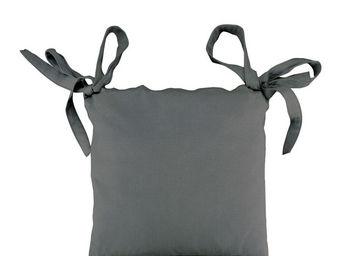 Interior's - housse de galette de chaise grise - Galette De Chaise