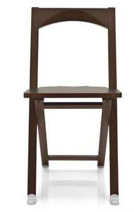 Calligaris - chaise pliante olivia wengé de calligaris - Chaise Pliante